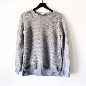 Rebecca Taylor Metallic Textured Pullover Sweater